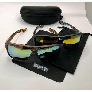TWO New Fox Racing Sunglasses FREE HARD CASE